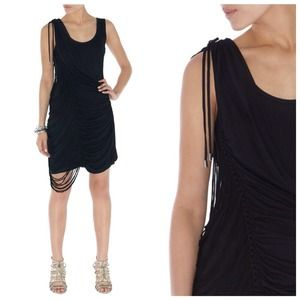 Karen Millen Black Macrame Jersey Dress