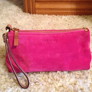 Authentic kate spade wristlet clutch