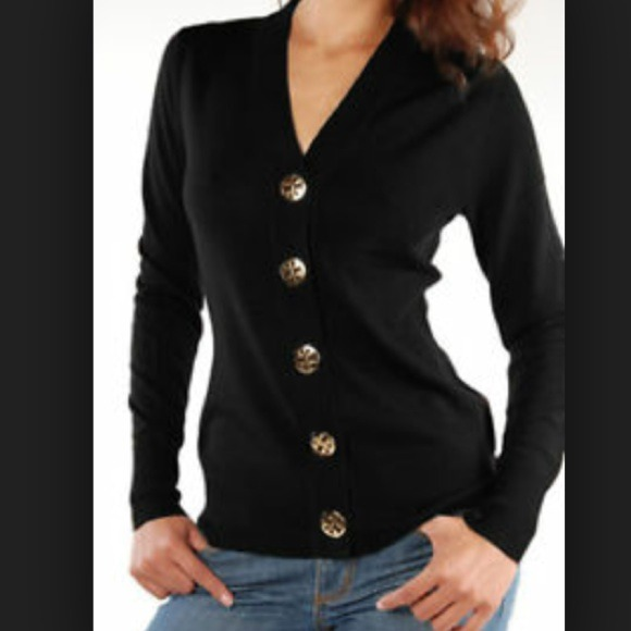 41% off Tory Burch Sweaters - Tory Burch black cardigan with gold ...