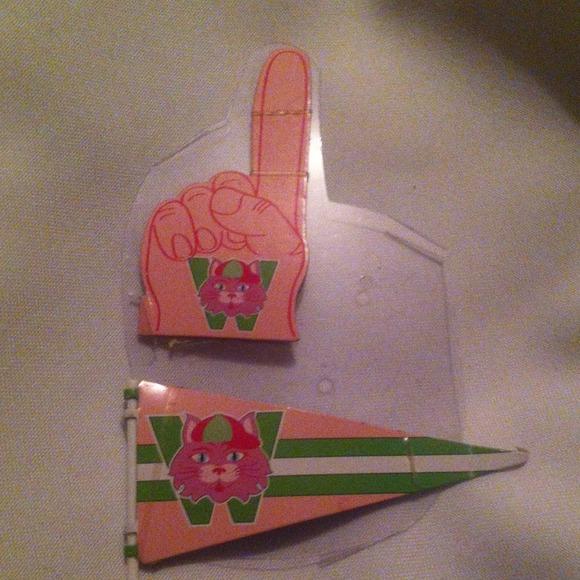 "mattel barbie Other - School spirit banner flag & hand prop for 12"" doll"