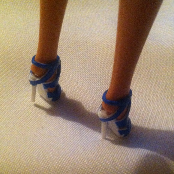 "mattel barbie Other - Barbie Blue Strap High Heel Shoes for 12"" dolls"
