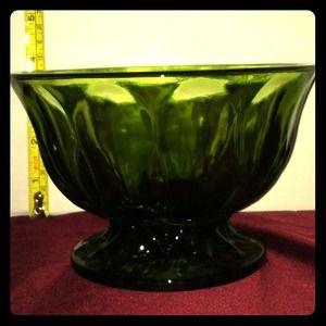Vintage Olive green bowl / candy dish