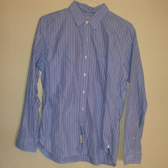 84 off j crew other men 39 s blue striped button up work for Blue button up work shirt
