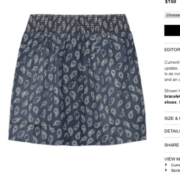 Current/Elliot Skirts - REDUCED Current Elliot Paisley Skirt