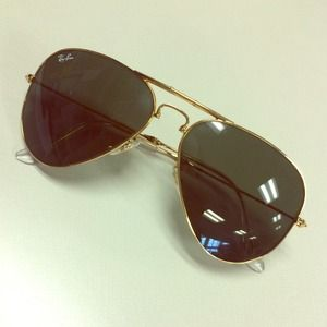 Raybans collapsible Aviator sunglasses