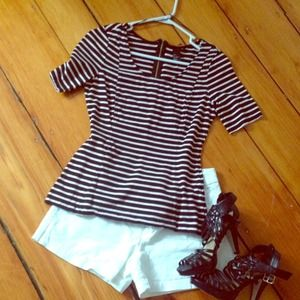 Black striped peplum top!