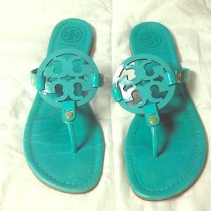 Tory Burch aqua sandals