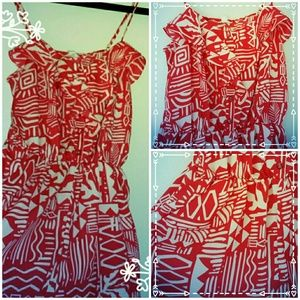 Other - **Red Tribal Romper**