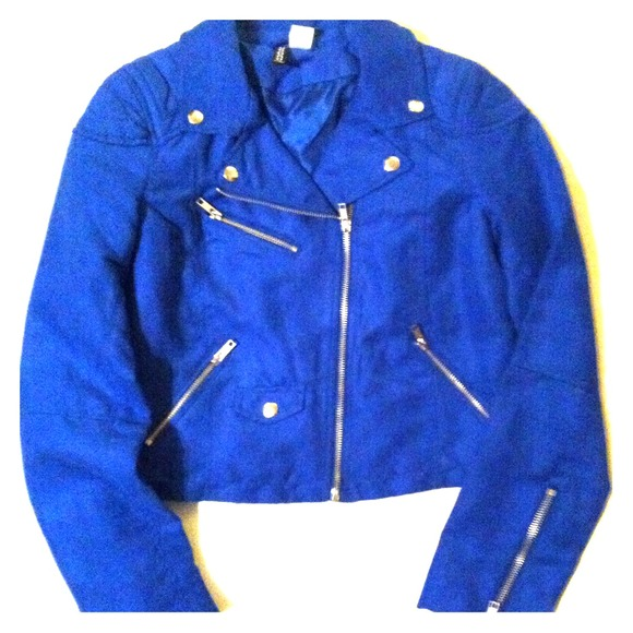 55% off H&M Jackets & Blazers - H&M electric blue jacket from ...