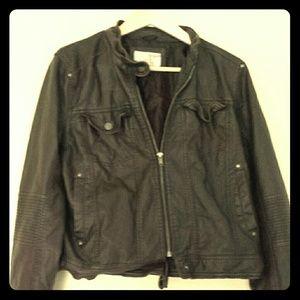 Jackets & Blazers - Dark chestnut brown faux leather jacket