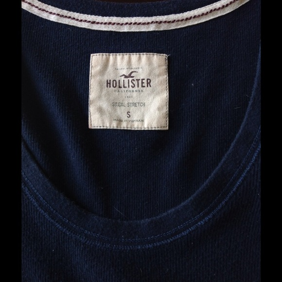 Hollister Tops - Long Sleeve Navy Blue Top from Hollister