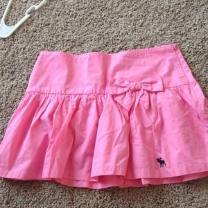 Pink Abercrombie Ruffle Bow Skirt