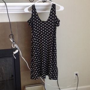 Adorable Black and White Polka Dot Dress