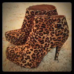 Charlotte Russe cheetah booties!
