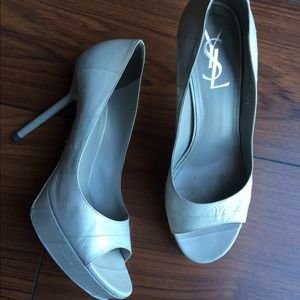Yves Saint Laurent Shoes - YSL Open Toe 37.5 7.5 Shoes High Heels