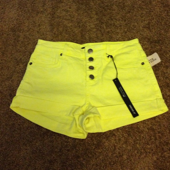 Forever 21 - F21 neon yellow high waist shorts NWT from ...