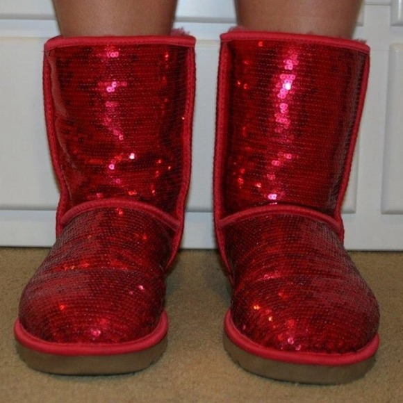 8 Off Ugg Boots Ugg Ruby Red Sequined Boot From Shy S
