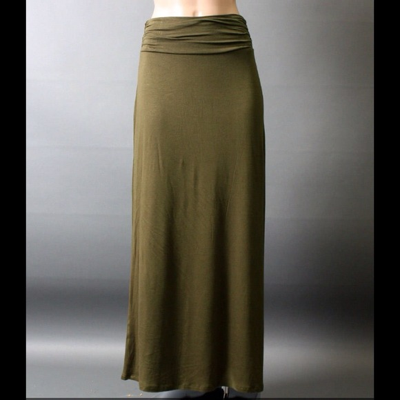 Olive Green Maxi Skirt L from 🕶's closet on Poshmark