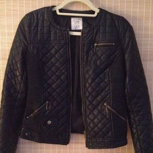 Zara ladies faux leather jacket