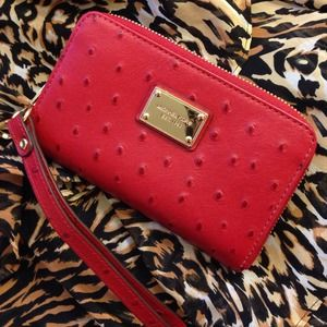 Like new Michael  Kors  wallet red leather