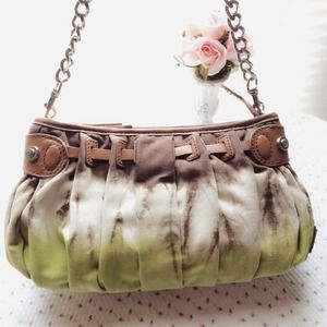 Tie Dye Green Tone Clutch / Handbag Bag