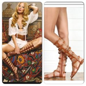 Tall Tan Gladiator Sandals Free People Inspired 7