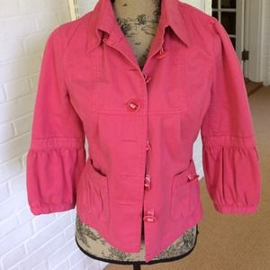 Etcetera Jackets & Blazers - Pink cotton unlined casual jacket