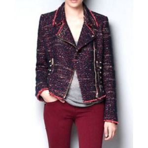 Zara Jackets & Blazers - 🆕⬇️Zara Tweed Boucle Studded Jacket
