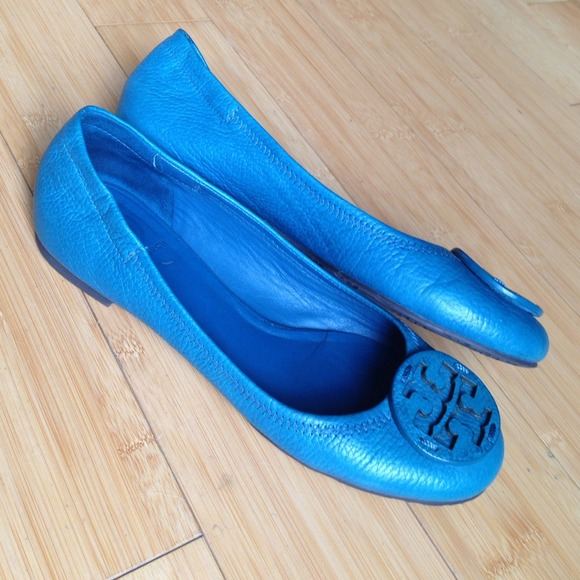 Tory Burch Shoes - Tory Burch Turquoise Flats🔹Reduced Price!