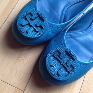Tory Burch Shoes - Tory Burch Turquoise Flats🔹Reduced Price! 1