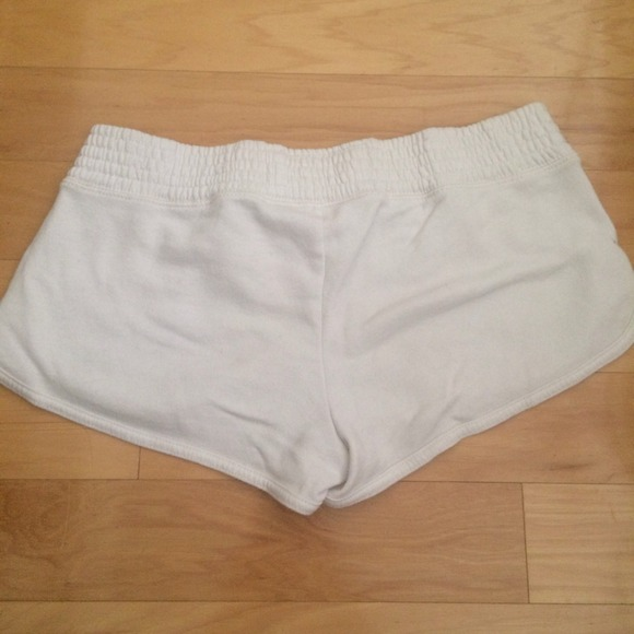 83% off Hollister Pants - Hollister White Beachy Terry Cloth ...