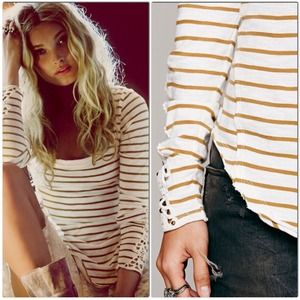 NWT Free People Hard Candy Striped Crochet Cuff S