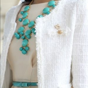 J. Crew Jewelry - Turquoise green bubble necklace