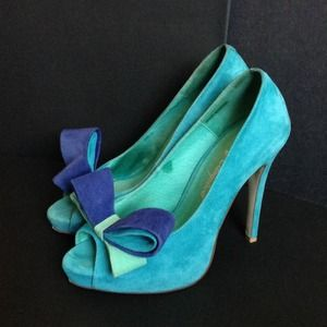 Turquoise Jeffrey Campbell heels