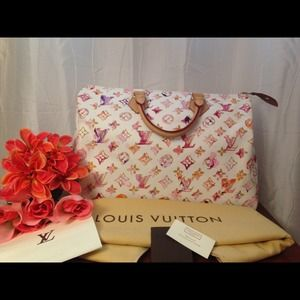 Authentic Louis Vuitton Watercolor Speedy 35