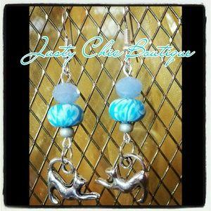 Jewelry - **NEW**Kitty kitty come and play earrings Handmade