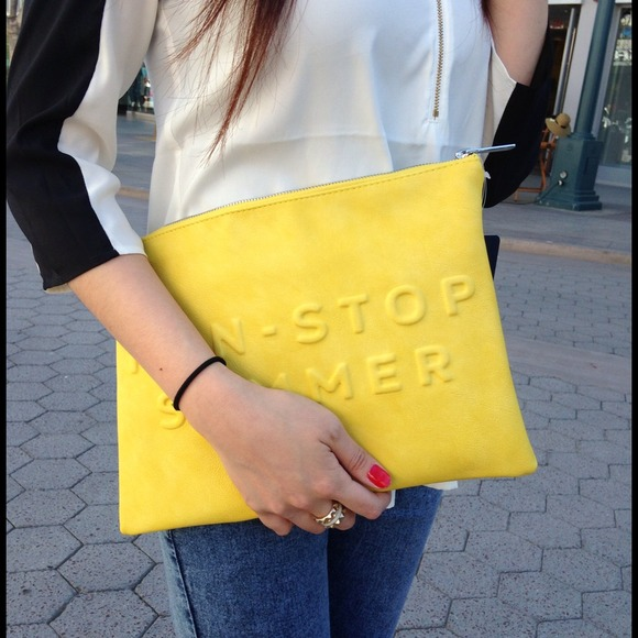 "Zara Bags - HOST PICK💜 Zara Clutch ""non-stop summer have fun"""