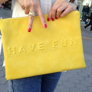 "Zara Bags - HOST PICK💜 Zara Clutch ""non-stop summer have fun"" 1"