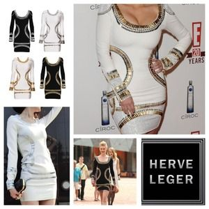 Herve Leger Dresses & Skirts - Herve ledger celebrity inspired bodycon dress