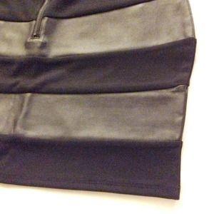 Forever 21 Skirts - Brand NEW* Forever21 black skirt w leather details