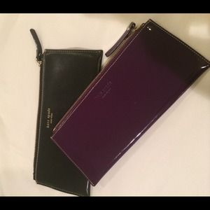 Pair of Kate Spade zipper pouches