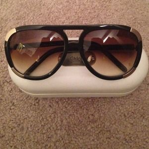 Chloe Accessories - Chloe cl 2120 brown sunglasses . With box