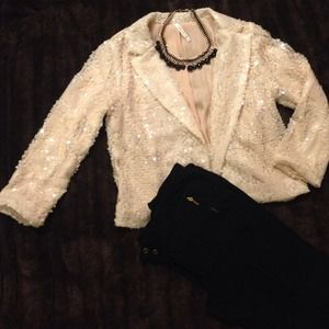 Beautiful sequin beige blazer