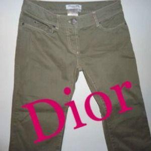 "Dior Denim - Christian Dior Boutique Army Green ""Tape"" Jeans 💁"