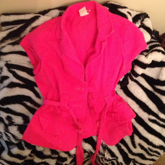 hot pink short sleeved cardigan/blazer S from Tequila's closet on ...