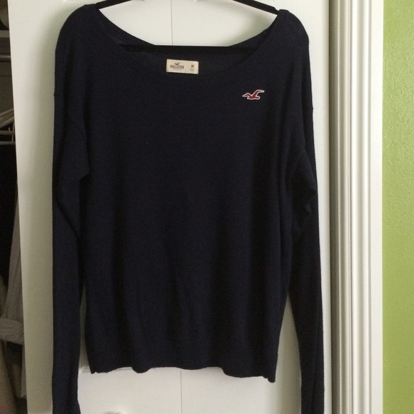 hollister blue sweater