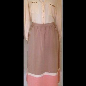 Vintage Color Block Skirt