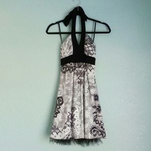 Victorian Lace Print Special Occasion Dress