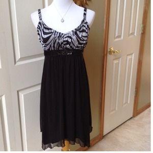 Black/Gray Party Dress