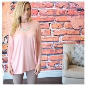 Tops - Soft pink lightweight tunic